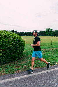 Running during training for an Iron Man
